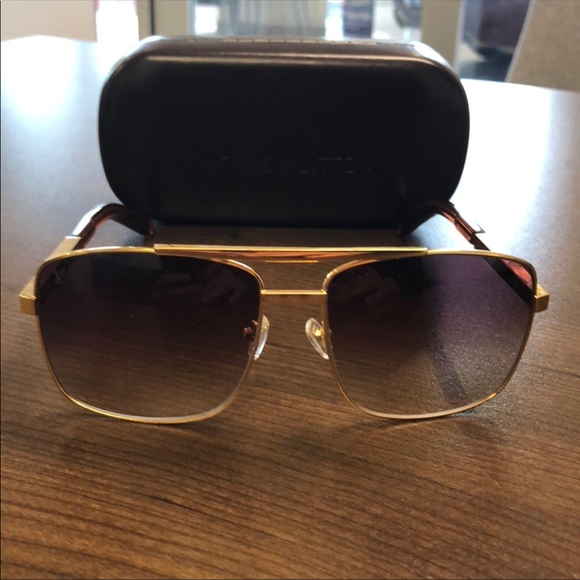 426e22e6c67 Louis Vuitton Other - Men s Louis Vuitton Gold   Brown Sunglasses